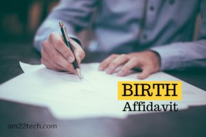 Birth Affidavit