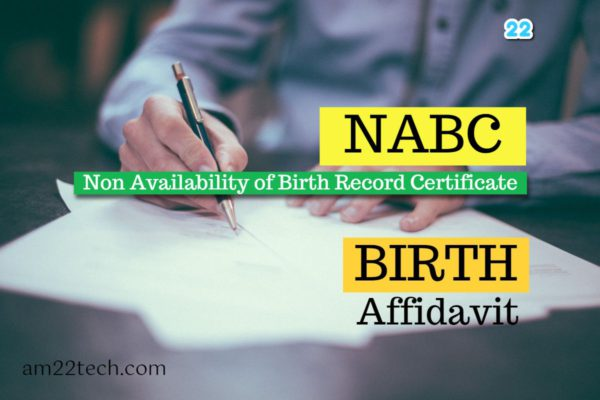 NABC birth affidavit from India