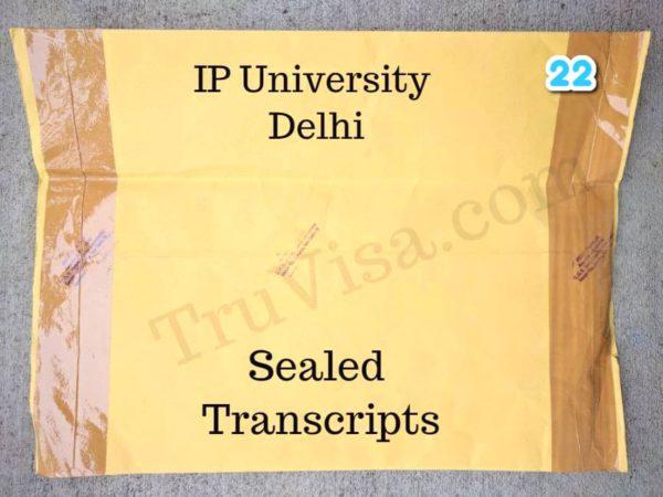 IP University Delhi sealed transcript
